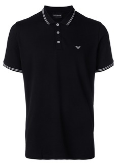 Emporio Armani classic short sleeved polo shirt - Black