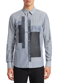 Armani Color-Block Cotton Shirt