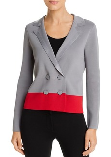 Emporio Armani Colorblocked Double-Breasted Blazer
