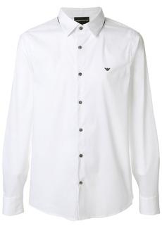 Emporio Armani contrast button shirt - White