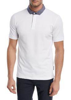 Armani Contrast-Collar Piqué Polo Shirt