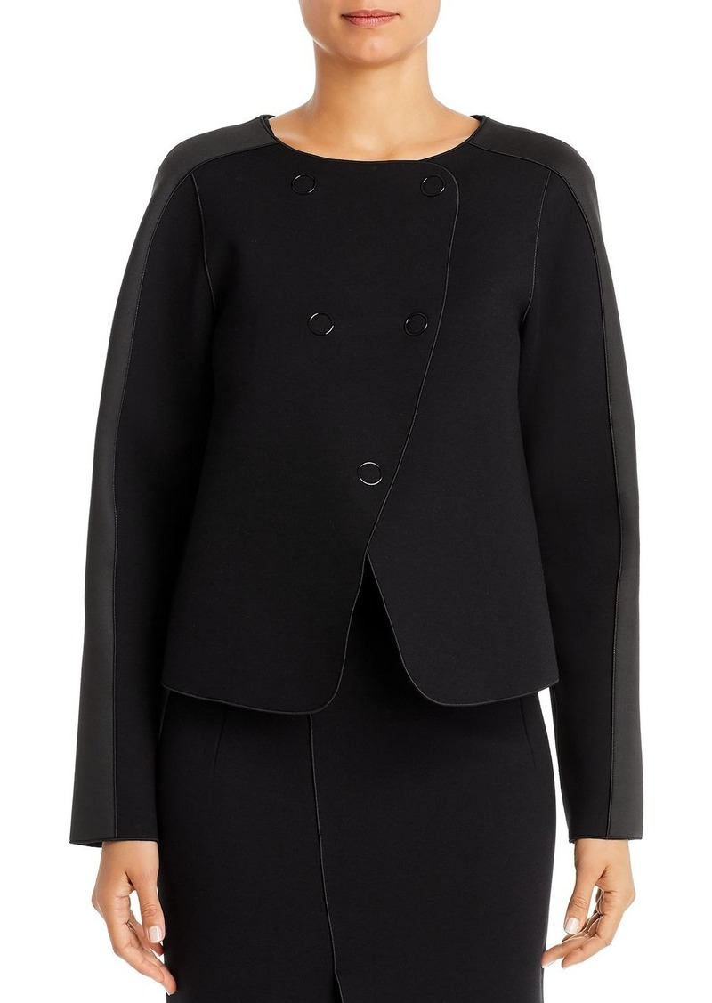 Emporio Armani Contrast-Panel Boxy Jacket