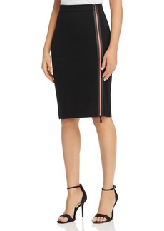 Emporio Armani Contrast-Zip Pencil Skirt