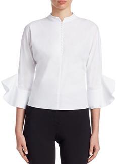 Armani Cotton Bell-Sleeve Shirt