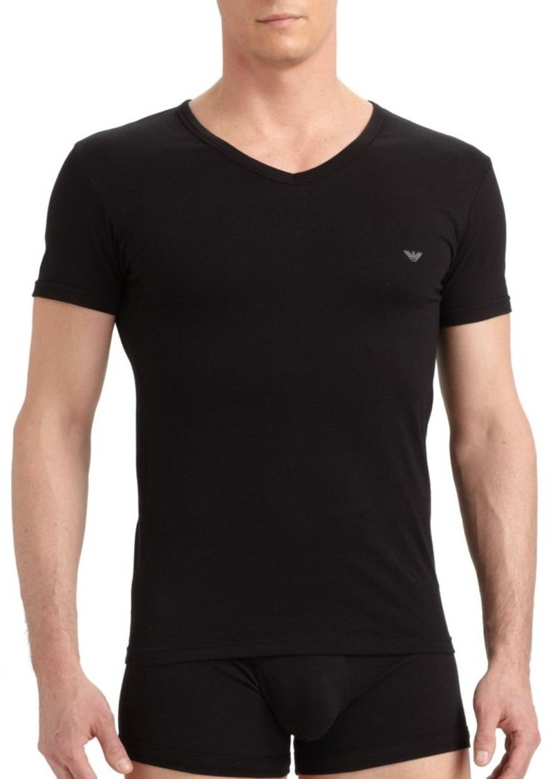 Armani Stretch Cotton V-Neck T-Shirt
