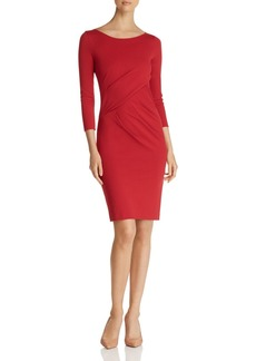 Emporio Armani Crisscross Ruched Dress