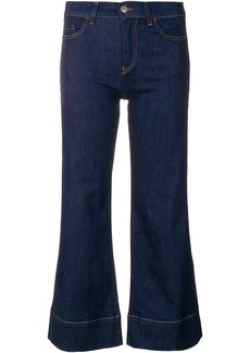 Emporio Armani cropped flared jeans - Blue