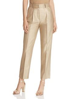 Emporio Armani Cropped Metallic Pants