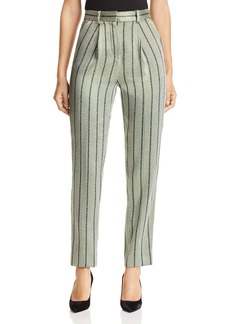Emporio Armani Cropped Metallic Striped Pants