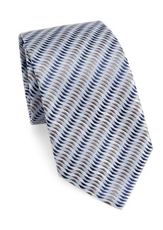 Armani Diagonal Wave Silk Tie