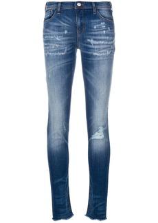 Armani distressed skinny jeans