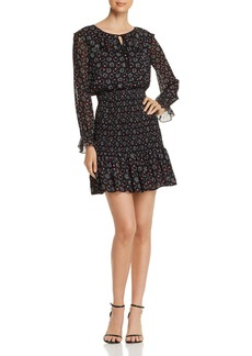 Emporio Armani Dotted & Star-Print Dress