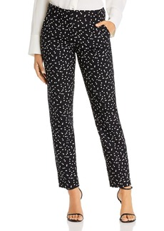 Emporio Armani Dotted Straight-Leg Pants