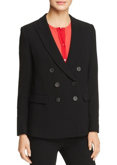 Emporio Armani Double-Breasted Peak Lapel Blazer