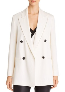 Emporio Armani Double-Breasted Peak-Lapel Blazer