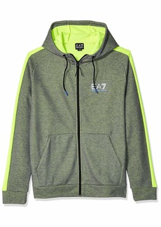 Emporio Armani EA7 Men's Natural Ventus7 Hoodie with Neon