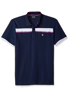 Emporio Armani EA7 Men's Training Performance & Stylite Green Club Piquet Polo  S