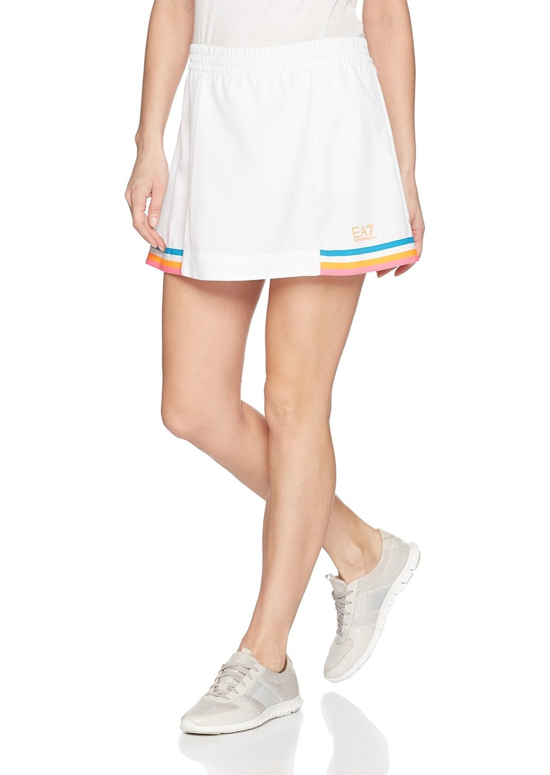 Emporio Armani EA7 Women's Performance & Stylite Tennis Pro Skirt with Shorts