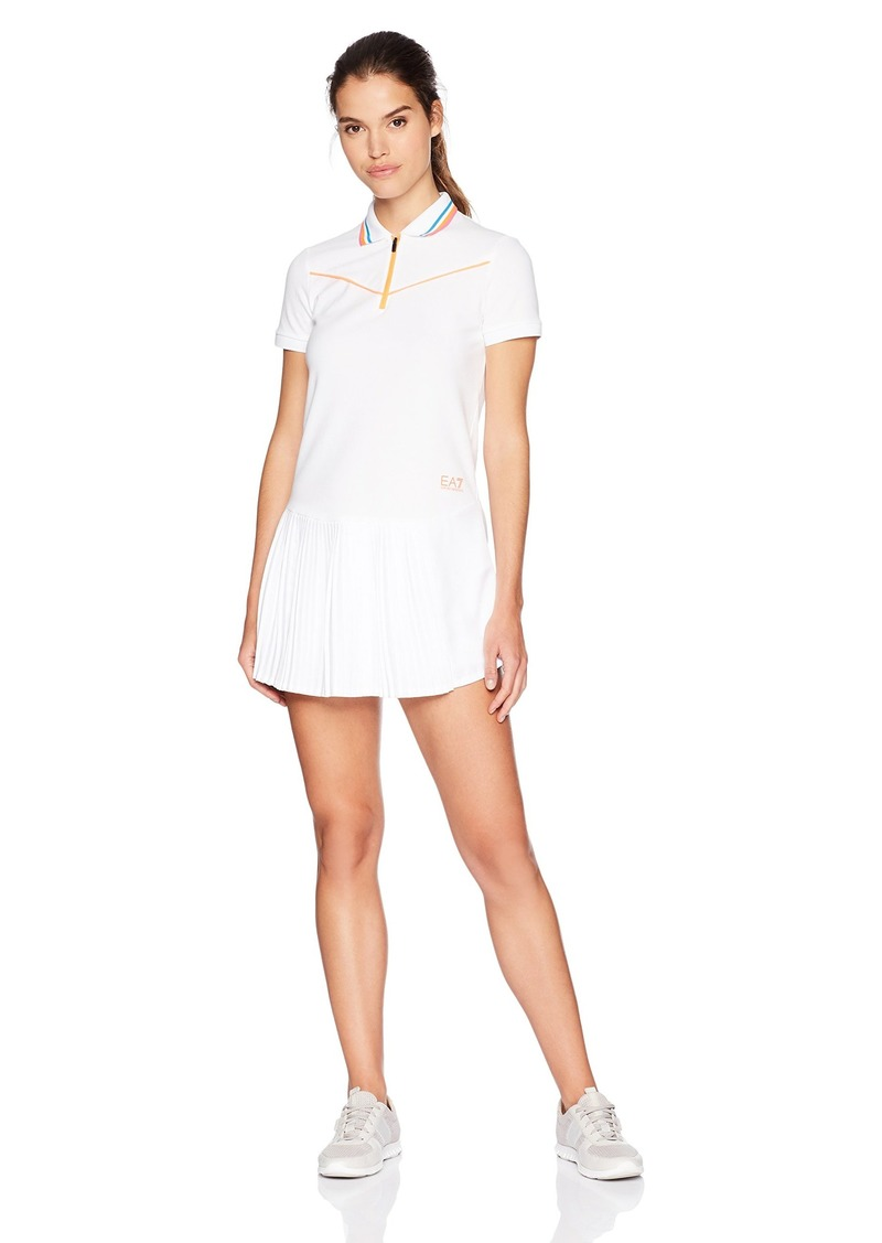 Emporio Armani EA7 Women's Performance and Stylite Tennis Pro Dress with Shorts