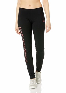 Emporio Armani EA7 Women's Train Leggings Black/Rouge red Extra Large