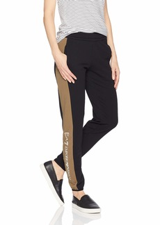 Emporio Armani EA7 Women's Train Logo Series Bicolor Pants