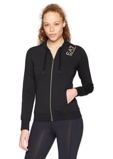 Emporio Armani EA7 Women's Training Branding Core Lady Full Zip Hoodie