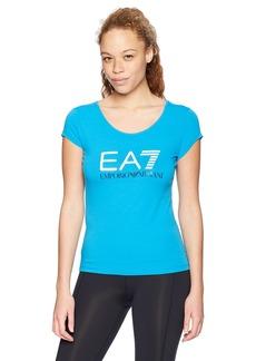 Emporio Armani EA7 Women's Training Core and Branding Logo Series Short Sleeve Tee
