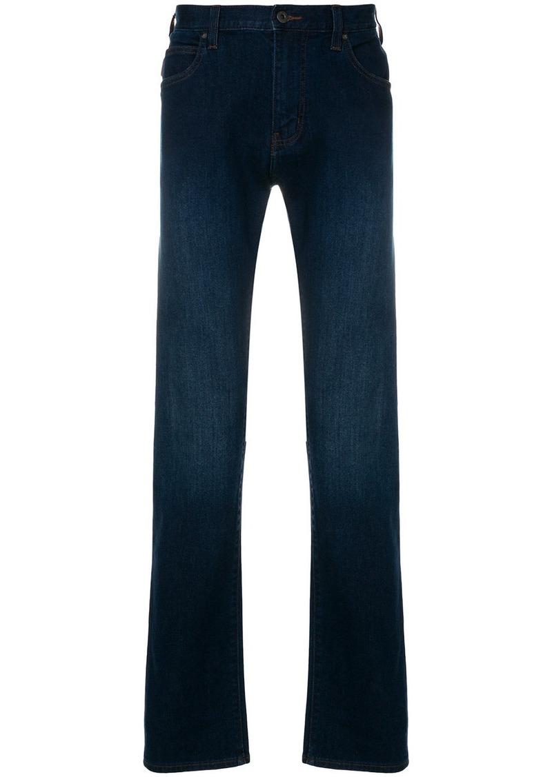 Armani faded straight leg jeans