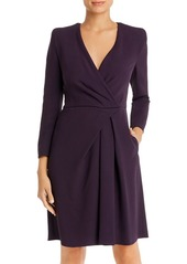 Emporio Armani Faux-Wrap Fit-and-Flare Dress