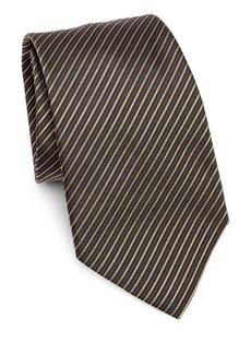 Armani Fine Stripe Silk Tie