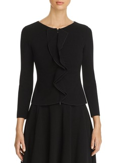 Emporio Armani Fitted Ruffled Jacket