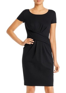 Emporio Armani Gathered Ponte Shift Dress