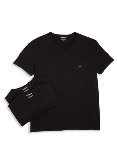 Armani Genuine Cotton V-Neck T-Shirts Set of Three
