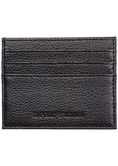Emporio Armani Genuine Leather Credit Card Case Holder Wallet