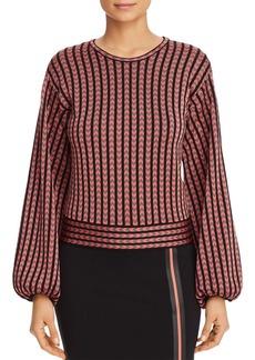 Emporio Armani Geo-Print Balloon-Sleeve Sweater