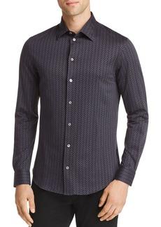 Emporio Armani Geo Print Regular Fit Button-Down Shirt