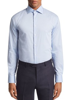 Emporio Armani Grid-Print Tailored Fit Shirt