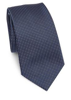Armani Grid Silk Tie