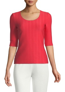Armani Half-Sleeve Ribbed Underpinning Top
