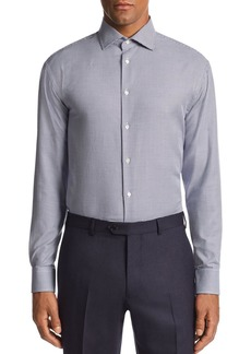 Emporio Armani Herringbone-Print Tailored Fit Shirt