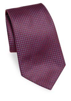 Armani Herringbone Silk Tie
