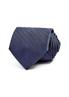 Emporio Armani Herringbone Stripe Classic Tie