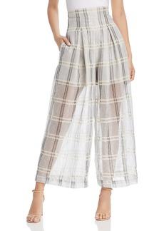 Emporio Armani High-Waist Sheer Plaid Pants