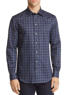 Emporio Armani Houndstooth Print Regular Fit Button-Down Shirt