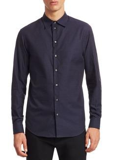 Armani Jersey Button-Down Shirt