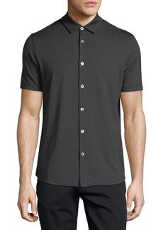Armani Jersey Stripe Button-Down Shirt