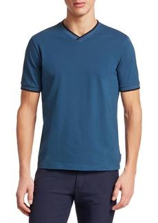 Armani Jersey V-Neck Tee Shirt