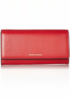 Emporio Armani Large Wallet with Flap Closure red/black