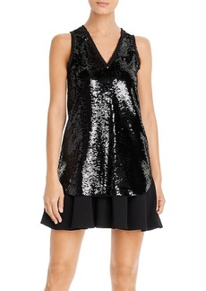 Emporio Armani Layered Sequin Dress