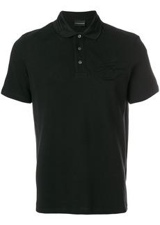 Emporio Armani logo polo shirt - Black